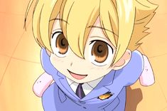 "Mitsukuni ""Honey"" Haninozuka is considered a ""boy lolita"" or ""loli-shota;"" basically, an older boy who is attractive to girls because he is child-like and cute. Honey, himself, loves cute things and indulges in sweets of cake and candy on a near-constant basis; this, despite being smaller than average for his age and a martial arts champion. He is a perennial optimist with an innocent approach to life that makes him appear to be more like an elementary school student instead of a 3rd-year..."