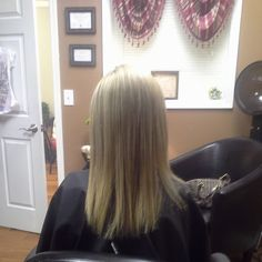 all over blonde highlights.