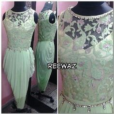 "Drape Dress Indian Ethnic Salwar Kameez Designer Wear Elegant Beautiful""a"
