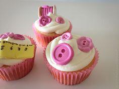 Aniversário da vovó! Cupcake botões