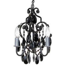 Black Mini Chandelier > $114.97 Bathroom, Locker or Foyer, 3-light - http://chandeliertop.com/black-mini-chandelier-for-bathroom-locker-or-foyer-3-light/