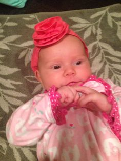 Ava with her now headband on
