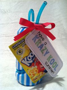 Student Gifts Discover Krazy Kool Gift Tags {Freebie} Krazy straws Kool Aid and these fun {free!} gift tags will make one End Of School Year, End Of Year, School Fun, School Stuff, School Days, School Parties, Sunday School, Future School, School Holidays