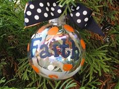 cheer ornament, make it in maroon and white and its perfect for my girls