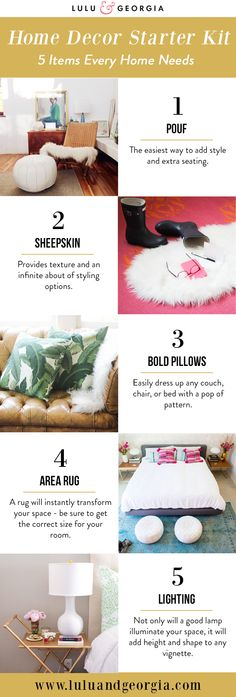 Home Decor Starter Kit - 5 Things Every Space Needs.