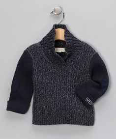 {Freddy Mine Marled Seaport Navy Little Professor Sweater} love the elbow pads... so cute for a little man.