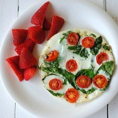 Egg White and Tomato Omelette