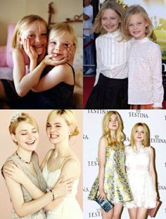 Dakota and Elle Fanning then and now