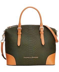 Dooney & Bourke Claremont Python Domed Satchel - Handbags & Accessories - Macy's