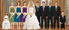 OMG...so weird....this is EXACTLY what I visioned for the bridal party...AND we have 3 bridesmaids and 3 groomsmen....awesome! lol