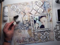 How to create mixed media page by Marta Lapkowska 'Memories'