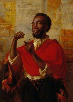 The Pipe of Freedom, 1869 by Thomas Stuart Smith (Scottish 1813-1869)