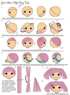 doll yarn hair tutorial anna - Yahoo Search Results