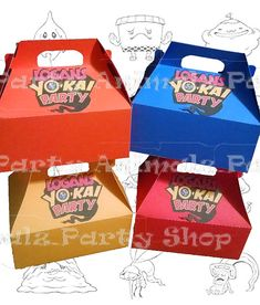 Yo-Kai Watch Favor Boxes by PartyAnimalzShop on Etsy