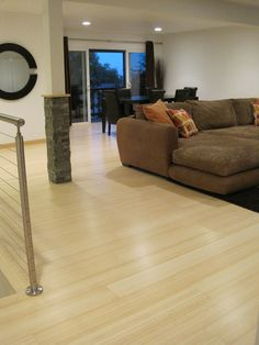 Natural bamboo flooring brings the contemporary look to your room.                                                                                                                                                                                 More