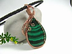Beautiful Malachite Pendant for necklace