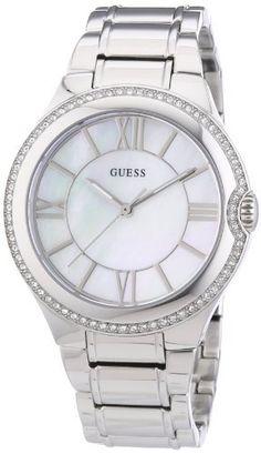Guess W12117L1 - Reloj analógico de cuarzo para mujer con correa de acero inoxidable, color plateado, http://www.amazon.es/dp/B0070KJPXQ/ref=cm_sw_r_pi_awdl_9dvDtb1Y20PFT
