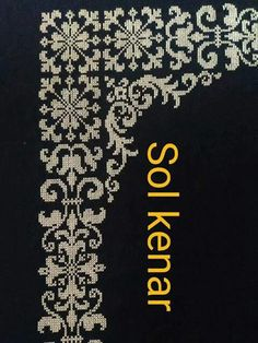 "Sol kenar ""This post was discovered by Ünz"" Cross Stitch Borders, Cross Stitch Designs, Cross Stitching, Cross Stitch Embroidery, Hand Embroidery, Cross Stitch Patterns, Embroidery Designs, Crochet Patterns, Blackwork Patterns"