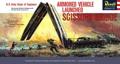 Revell Armored Vehicle Launched Scissors Bridge '60s