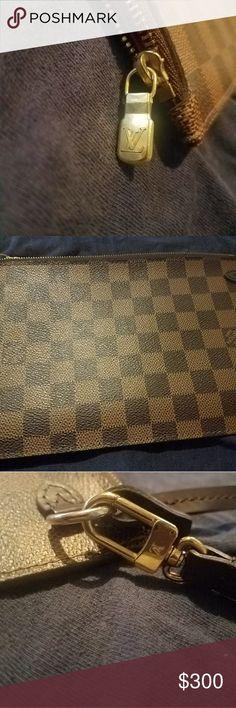 Louis Vuitton Clutch monogram damier Brown LV clutch Louis Vuitton Bags Clutches & Wristlets