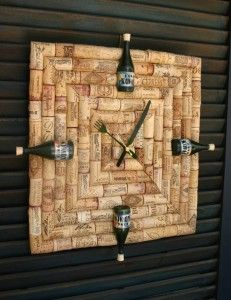 Wine Time - DIY up-cycled wine cork clock with instructions.