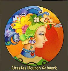 View album on Yandex. China Painting, Ceramic Painting, Watercolor Paintings, Original Paintings, Contemporary Art, Modern Art, Cuban Art, Talavera Pottery, Bristol Board