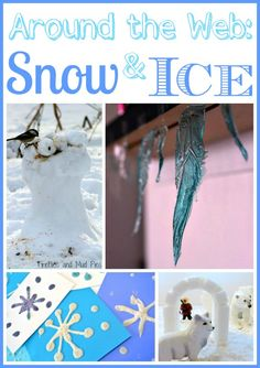 """So many ways to play in winter! Fun ideas to play with """"snow and ice"""""""
