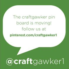 .This board is no longer updated. Follow our new craftgawker account to continue getting our arts and crafts ideas and inspiration! New account --> http://www.pinterest.com/craftgawker1/