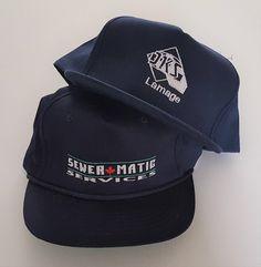 f78842392e7 Vintage Lot (2) Trucker Style Snapback   Strapback Hats VTG