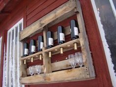 Recycled wine rack Palette recyclée