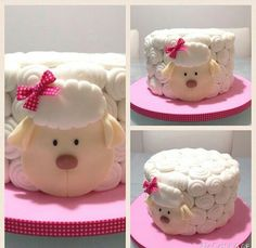 Vsiqueiracakes#insta Torta Baby Shower, 3id Adha, 1st Birthday Parties, 2nd Birthday, Sheep Cake, Paper Train, Cake Lettering, Creation Crafts, Baby Dedication