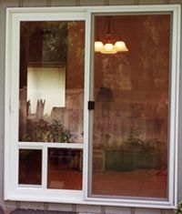 Pet Doors: Do you wish there was a way for your pet to let themselves in and out of house without letting the draft and bugs? Learn about our Pet Doors Design patio pet door conversion system.