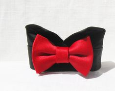 Black Tuxedo Shirt, Dog Tuxedo, Red Bow Tie, Leather Lace Up Boots, Tie Styles, Dog Wedding, Dog Bows, Red Satin, Dog Accessories