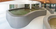 Swimming Pool produced by Preformati Italia for Pejo Thermal Center - Design by Studio Tesi (www.studiotesi.it)