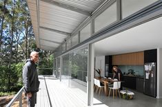 Designed for a professional fire fighter and his family, the Karri Fire House is an exemplar of affordable construction for extreme levels of bushfire attack. Architecture Awards, Residential Architecture, Interior Architecture, Aluminum Windows Design, Thermal Mass, Commercial Construction, House Viewing, Radiant Heat