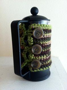 Forest Green French Press Cozy - Small