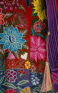 only a sample of the beautiful embroidered textiles produced by the Tzotzil Maya artists of Zinacantan Chiapas