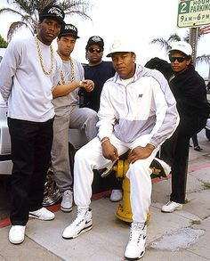 My favorite rap group, when i was growing up. It was dr dre, Ice cube, easy E, ren,. Then they split up when easy e pass away. Then they went they separated Became music direct and make movies.