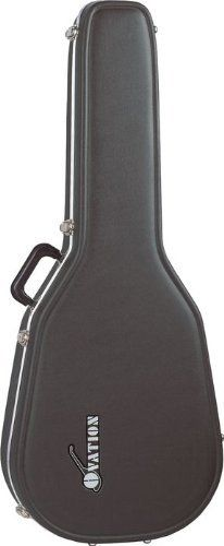 Ovation Deluxe Molded Case for Super Shallow Body Guitar by Ovation. $103.99. Fits Ovation shallow-bowl guitars. Molded, shaped exterior with aluminum valances, plush lining and an accessory pocket.