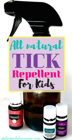 All Natural & Easy To Make Tick Repellent All Natural Tick Repellent for kids! Looking for an easy to make, all natural tick repellent for your kids this year? This DIY tick repellent with essential oils works like magic! Say goodbye to ticks this summer! Essential Oils For Kids, Essential Oil Uses, Doterra Essential Oils, Young Living Essential Oils, Yl Oils, Essential Oil Bug Spray, Plant Therapy Essential Oils, Tick Repellent For Humans, Natural Tick Repellent