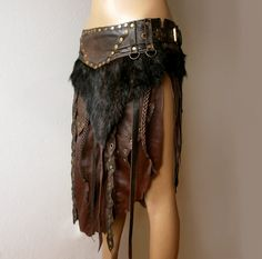 Dream Warriors brown leather loincloth / battle by DreamWarriors