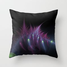 NeonSeries015 Throw Pillow by fracts - fractal art - $20.00