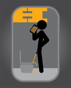 Señaletica para baño de hombres by graf_phillip, via Flickr