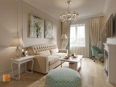 Фото гостиная из проекта «Интерьер двухкомнатной квартиры в ЖК «Классика», 75 кв.м.»