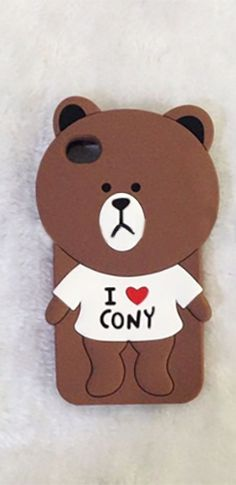 Brown White Teddy Bear Soft Silicone Phone Case Iphone Samsung Back Cover