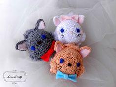 Lenn's Craft ♥ Handmade doll♥ Amigurumi ♥ : Tsum tsum Aristocats crochet (marie - berlioz- tou...