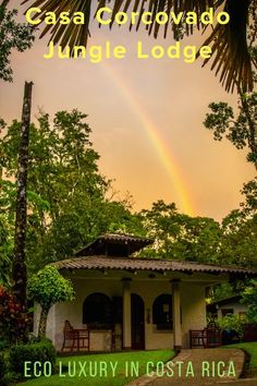 Rainbow over Casa Corcovado Jungle Lodge in Costa Rica.