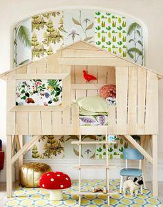 lit cabane pour fille par Mathy