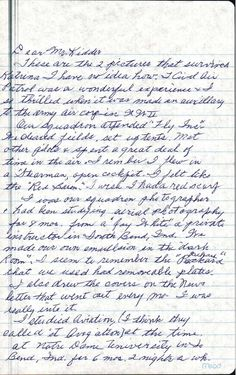 Letter from Ms. Lorraine Redifer Sherman to Bradley W. from Arkansas Wing describing her time in the South Bend Civil Air Patrol. Page page 2 is also Congressional Gold Medal, Civil Air Patrol, South Bend, Lorraine, Arkansas, Civilization, Jr, Bullet Journal, Lettering