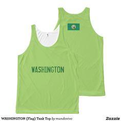 WASHINGTON (Flag) Tank Top All-Over Print Tank Top